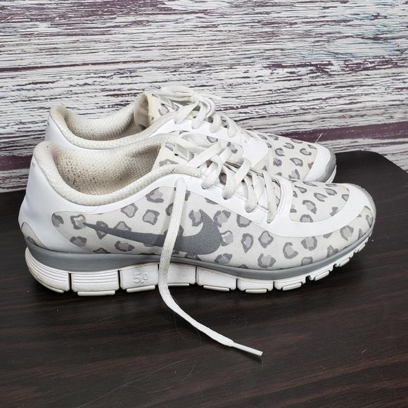 Nike Shoes | Nike White Cheetah Print